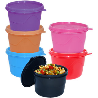 Cello Max Fresh Round Containers Set Of 6Pcs 550Ml-Assorted Colours