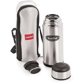Cello Commando Stainless Steel Flask (1000 ml) Black