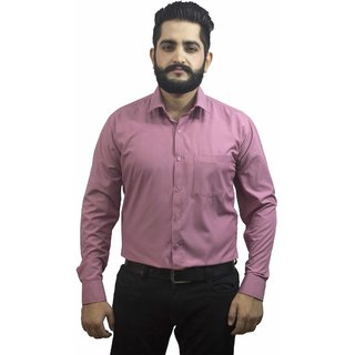 Aces Blue Burgundy  Collared Full Sleeve Poly Cotton Shirt