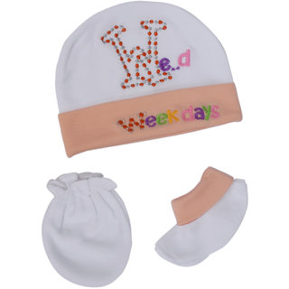 Jyonee Lifestyle beige accessories combo set for new born baby