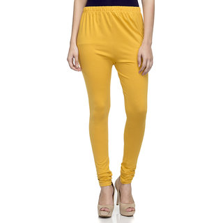 Laabha WomenS Mustered Cotton Strechable Churidaar Legging