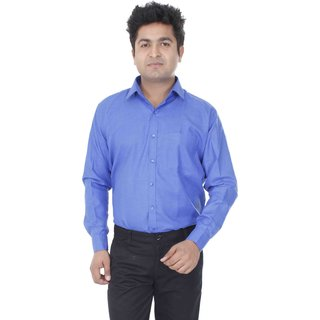 Aces Blue  Collared Full Sleeve Linen Shirt
