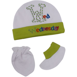 Jyonee Lifestyle green accessories combo set for new born baby