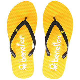 UCB Womens Yellow Flip Flops