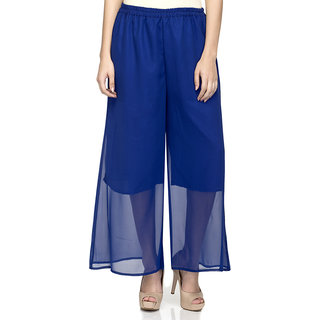 Laabha WomenS Nevy Blue Flaired Plazzo