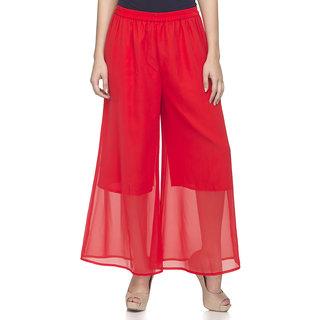 Laabha WomenS Red Flaired Plazzo