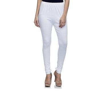 Laabha WomenS White Cotton Strechable Churidaar Legging