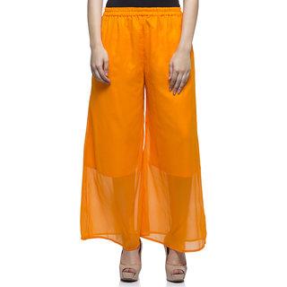 Laabha Orange Flaired Plazzo Pant