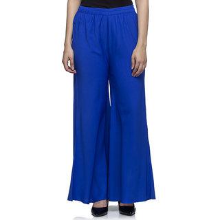 Laabha Royal Blue Flaired Plazzo Pant