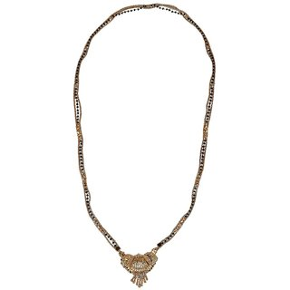 Biyu Latest Design Black Beads Gold Plated Zinc Alloy Mangalsutra