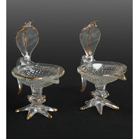 Crystal Diyas With Lord Naga Crafted On The Top - Set Of 2 Pieces