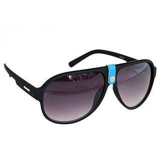 Sunglass In Aviator Style In Mat Finish In Premium Style In Blue Touch