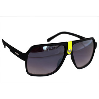 Sunglasses In Wayfarer Style In Mat Finish In Premium Style In Yellow Touch