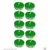 Scented Green Tealight T-Lite Candles Smokeless Candle For Diwali Birthday Party Gift Christmas Candle Lighting Lamp Pack Of 40