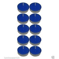 Scented Blue Tealight T-Lite Candles Smokeless Candle For Diwali Birthday Party Gift Christmas Candle Lighting Lamp Pack Of 80
