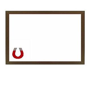 Kanico 1.5 x 2 feet Wooden Framed Magnetic White Board - KAWB0051824