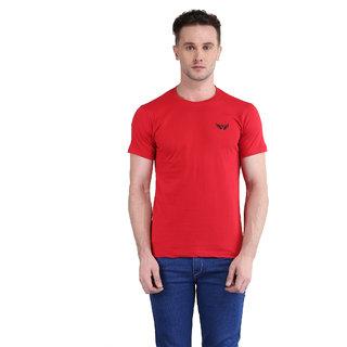 Bravezi MenS Solid Maroon Round Neck T-Shirt