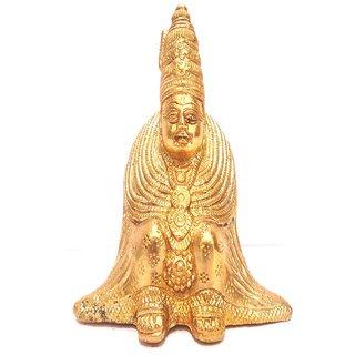 Divine Gods Lord Tulja Bhavani brass statue and Idol - 16.5 cms