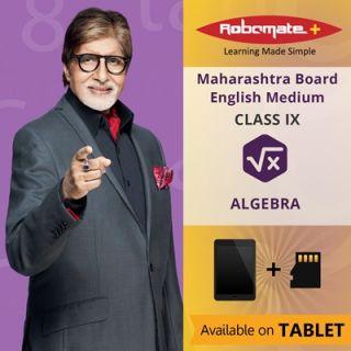 Robomate+ Maharashtra BoardEngIxAlgebra (Tablet)