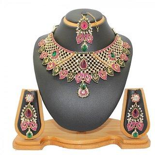 Soni Art Jewellery Attracktive diamond necklace set jewellry (0017)