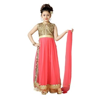 Aarika Pink Party Wear Palazzo Suit Set