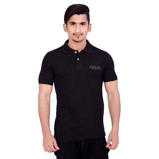 Holga Black Polo T-shirt