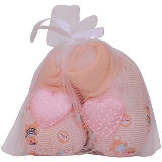 Jyonee Lifestyle cream heart booties for kids