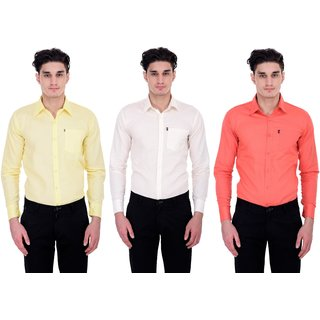 LONDON LOOKS MULTI COLOUR FORMAL SHIRTS ( COMBO OF 3 )