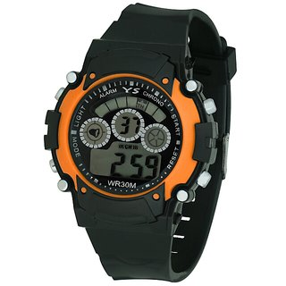 Zeit black digital rubber watch for kids