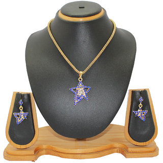 Soni Art Jewellery Star dimond fashion pendant set (0022)