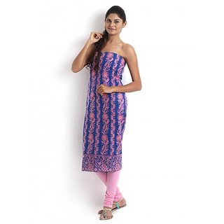 Blue Cotton Kurta with Chikankari  Zardozi Work