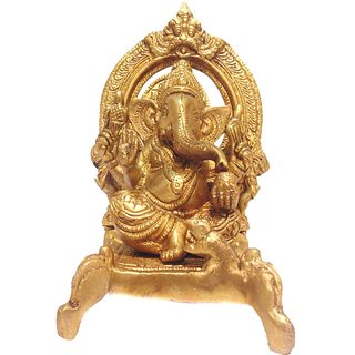Divine Gods Lord Shree Ganesha brass statue and Idol - 17.3 cms