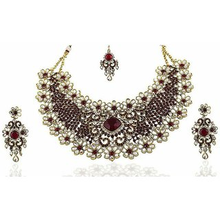 Saxena Youthful Bridal Vivaah Collection Ad Necklace Set Online