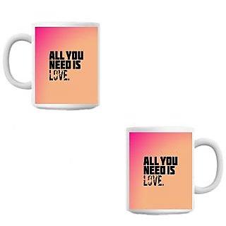 Need Love Cute White Coffee Mug