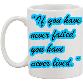 Never Lived Coffee Mug