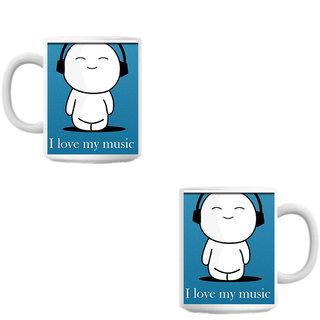 Love Music White Coffee Mug