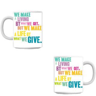 What We Make  White Coffee Mug