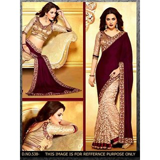 Nitesh Cloth Embriodered Bollywood Handloom Velvet Sari