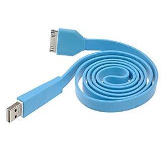 KolorFish Blue Noodles Flat Line USB Data Cable for Apple Devices