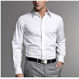 Mens Formal Shirt White Color
