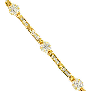 Glitters 24 Ct Gold Plated Cubic Zircon Adjustable Imported Bracelet for Girls.