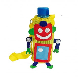 Lill Pumpkins Yellow robot Bottle Cover