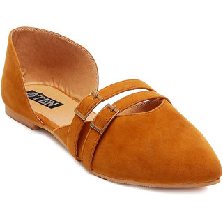 TEN Tan Suede Sandals