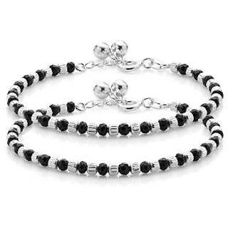 Rudrali Jewels Silver Najriya Anklet