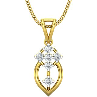 Jewel Hub SI-IJ Diamond Pendant 0.11 ct / 0.79gm 18k Yellow Gold