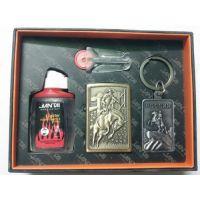 JANTAI 4 IN 1 Cigarette Lighter + Fuel +Flint + KEY Smoking Set