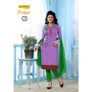 Pure Thick Mallai Cotton Dress Material