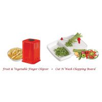 Combo Of Cut N Wash Chopping Board & Fruit & Vegetable Finger Chipser -14 By Sanghohub