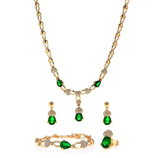 Ruhaani Jewels Alloy Jewel Set (Green)