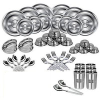 SSOL 50 Pcs Stainless Steel Dinner Set